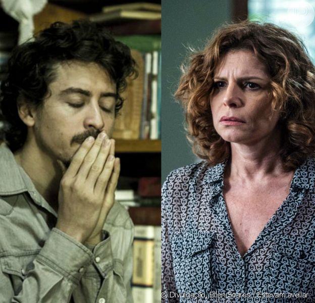 Vicente (Jesuita Barbosa) procura por Elisa (Debora Bloch) e conversa com Heitor (Cássio Gabus Mendes), no capítulo que vai ao ar na segunda-feira, dia 29 de agosto de 2016, na minissérie 'Justiça'