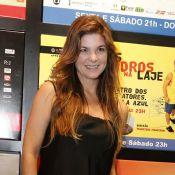 Cristiana Oliveira prestigia sessão de convidados do espetáculo 'E Aí, Comeu?'