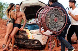 'Haja Coração': Tamara leva Apolo para a praia e não deixa ele falar de Tancinha