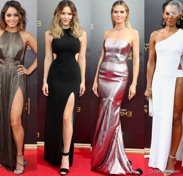 Veja fotos dos looks de Vanessa Hudgens, Heidi Klum e mais famosas no Emmy Awards 2016, que aconteceu na noite deste domingo, 11 de setembro de 2016, emLos Angeles, Califórnia