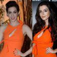 Sophia Abrahão e Giovanna Lancellotti usaram o mesmo vestido Versace com fenda, recorte e laço