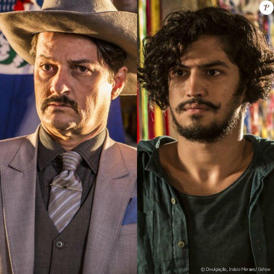 Carlos (Marcelo Serrado) consegue levar Miguel (Gabriel Leone) na conversa e o prejudica no inventário de Encarnação (Selma Egrei), na reta final da novela 'Velho Chico', em setembro de 2016