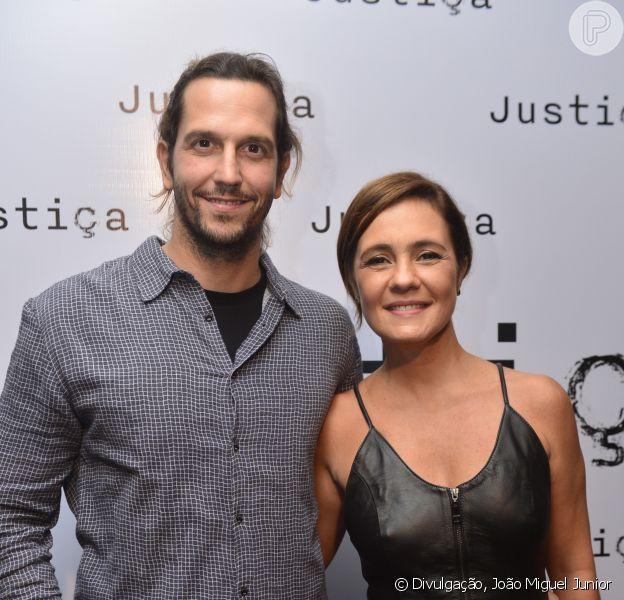 Adriana Esteves se emocionou neste domingo, 18 de setembro de 2016, ao falar do marido, Vladimir Brichta