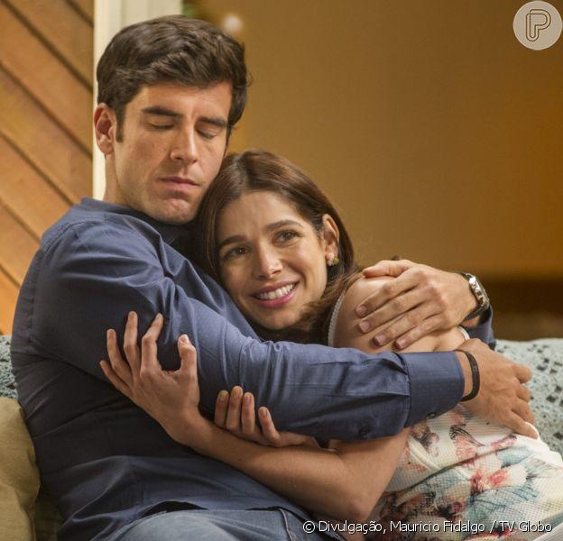 Marcos Pitombo e Sabrina Petraglia comemoram sucesso de casal Shirlipe na novela 'Haja Coração'