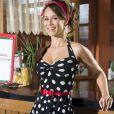 Mariana Ximenes está no ar na novela 'Haja Coração' como a feirante Tancinha, agora dona de restaurante na trama