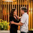 Na novela 'Haja Coração', Aparício, personagem de Alexandre Borges, vive romance com Rebeca, papel de Malu Mader