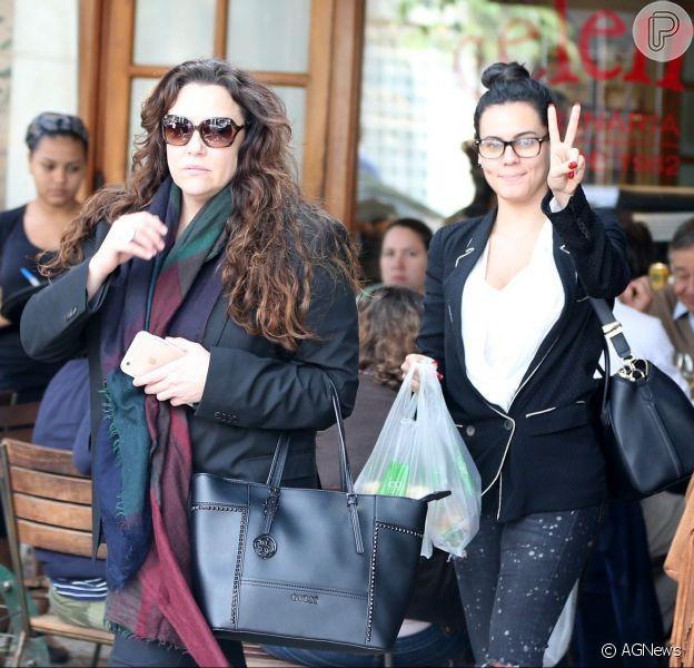 Ana Carolina e Letícia Lima almoçaram juntas em um restaurante do Rio nesta quarta-feira, 21 de setembro de 2016