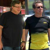 Boninho aparece bem mais magro ao ser fotografado na orla do Rio. Fotos!