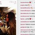 Laryssa Oliveira postou fotos em Barcelona no Instagram nos últimos dias