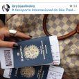 Laryssa e Anny embarcaram juntas para Zurique e depois seguiram para Barcelona