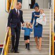 A família real desembarcou no Canadá para uma visita oficial
