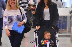 Sophie Charlotte é clicada com o filho, Otto, em aeroporto no Rio. Fotos!