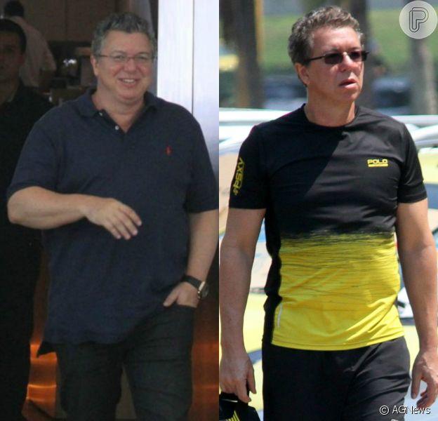 Boninho comemorou mudança no corpo após redução de estômago nesta quarta-feira, 28 de setembro de 2016