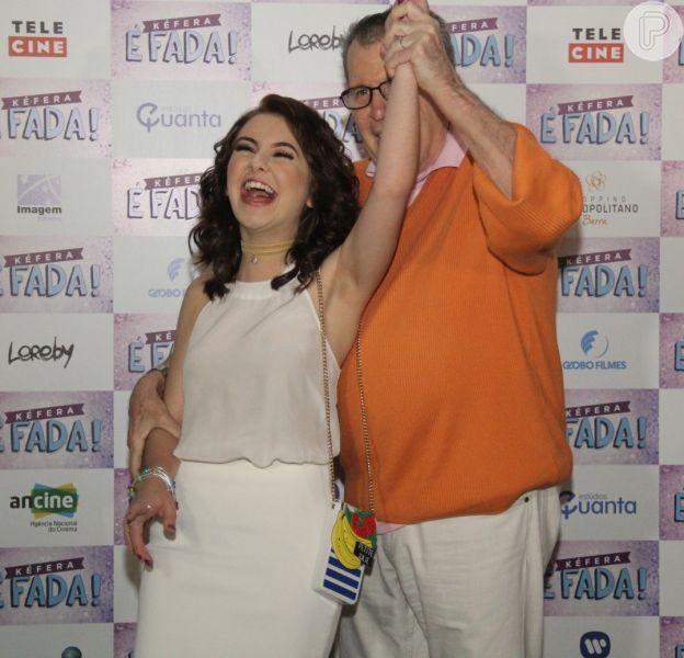 Kéfera e Klara Castanho marcam presença na pré-estreia do filme 'É Fada' nesta quarta-feira, 28 de setembro de 2016, na Barra da Tijuca, no Rio
