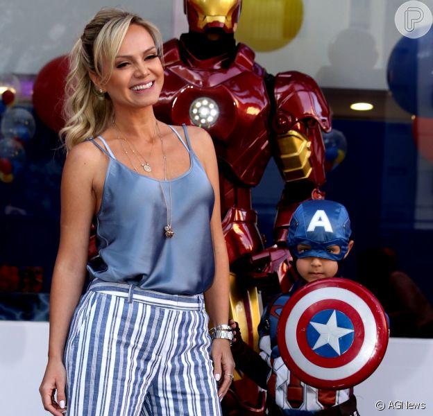 Eliana é realizada como mãe após nascimento do filho, Arthur, de cinco anos, fruto do relacionamento com seu ex-marido João Marcelo Bôscoli