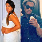 Micael Borges usa aliança e namorada do cantor exibe barrigão de oito meses
