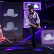 Daniel faz show em Florianópolis e dança com a filha Lara no palco