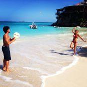 Alexandre Pato e Sophia Mattar curtem férias em hotel de luxo, no Caribe