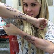 Polêmica tatuagem de Bárbara Evans em homenagem aos pais custou R$ 500
