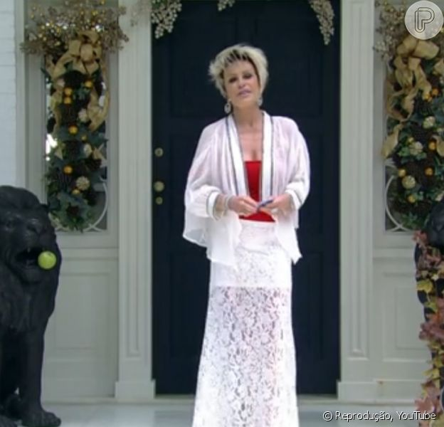 Pela primeira vez, Ana Maria Braga abriu as portas da sua casa, em São Paulo, em 24 de dezembro de 2013