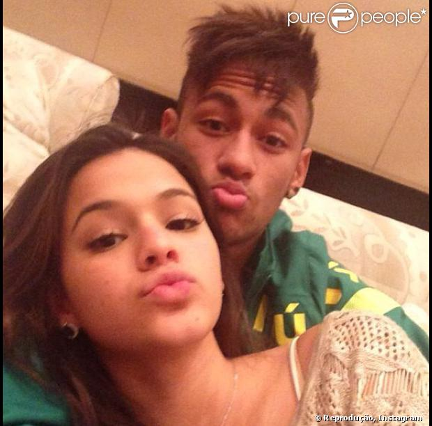 Neymar to arrive to the World Cup all loved up after ...Bruna Marquezine And Neymar