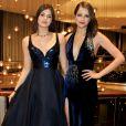 Lindas! Camila Queiroz e Agatha Moreira exibem seus looksno tapete vermelho do Emmy Internacional, em 21 de novembro de 2016