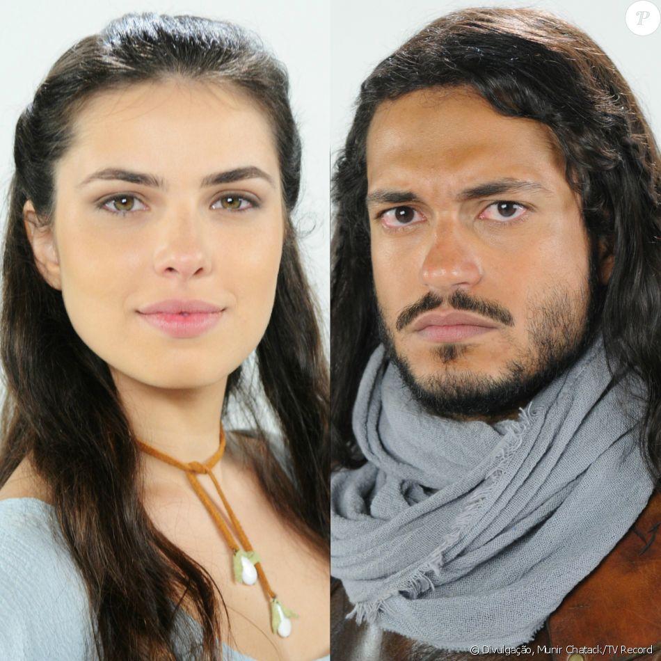 Tobias (Raphael Viana) acerta Aruna (Thais Melchior) no ventre com flecha, nos próximos capítulos da novela 'A Terra Prometida'