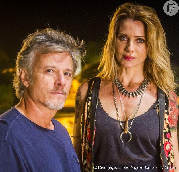 Lenita (Leticia Spiller) conta a Vittorio (Marcello Novaes) que teve uma filha, na novela 'Sol Nascente', a partir de 28 de novembro de 2016