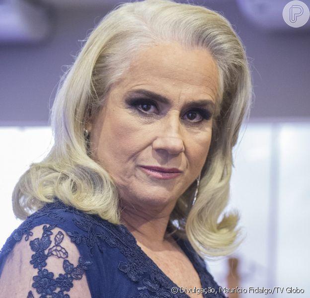 Mág (Vera Holtz) é acusada de ter mandado matar o marido, na novela 'A Lei do Amor', em dezembro de 2016