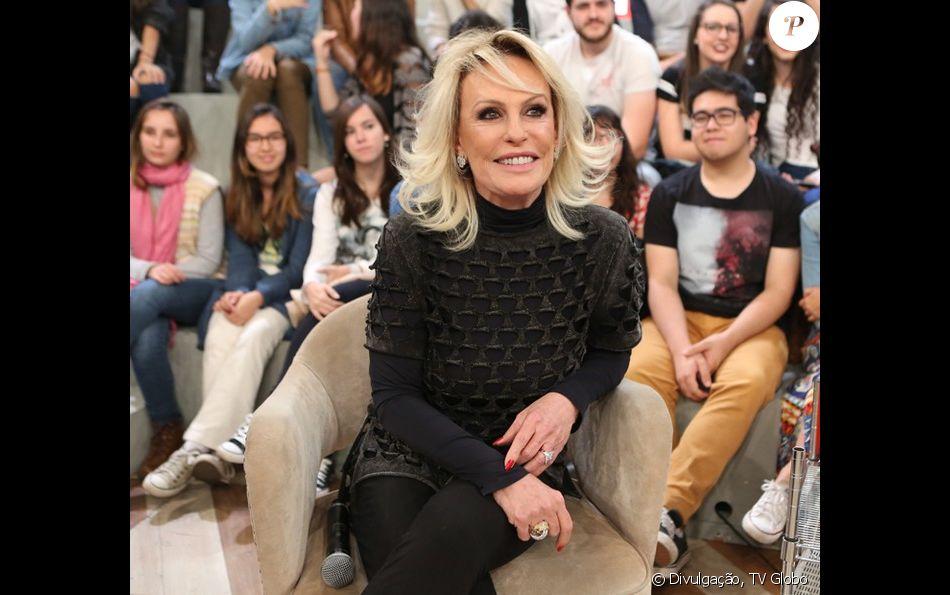 Ana Maria Braga negou vontade de se casar novamente durante o 'Mais Você' desta sexta-feira, 25 de novembro de 2016: 'Não quero alcançar o Fábio Jr.'