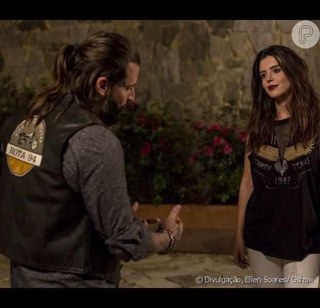 Ralf (Henri Castelli) salva Milena (Giovanna Antonelli) de assédio e os dois acabam se beijando, na novela 'Sol Nascente', a partir de 28 de novembro de 2016