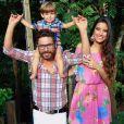 O sertanejo Hudson e a mulher, Thayra Machado, já são pais de Davi