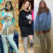 Anitta e mais famosas apostam em bota de moletom. Veja peça em diferentes looks!