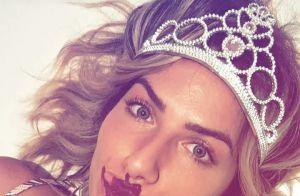 Giovanna Ewbank mostra maquiagem feita pela filha, Títi: 'Estou linda'. Vídeo!