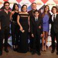 Gloria Pires teve a companhia dos filhos Bento, Antonia e Ana e do marido, Orlando Morais, no Prêmio Extra de TV. Cleo Pires, a primogênita, não foi ao evento