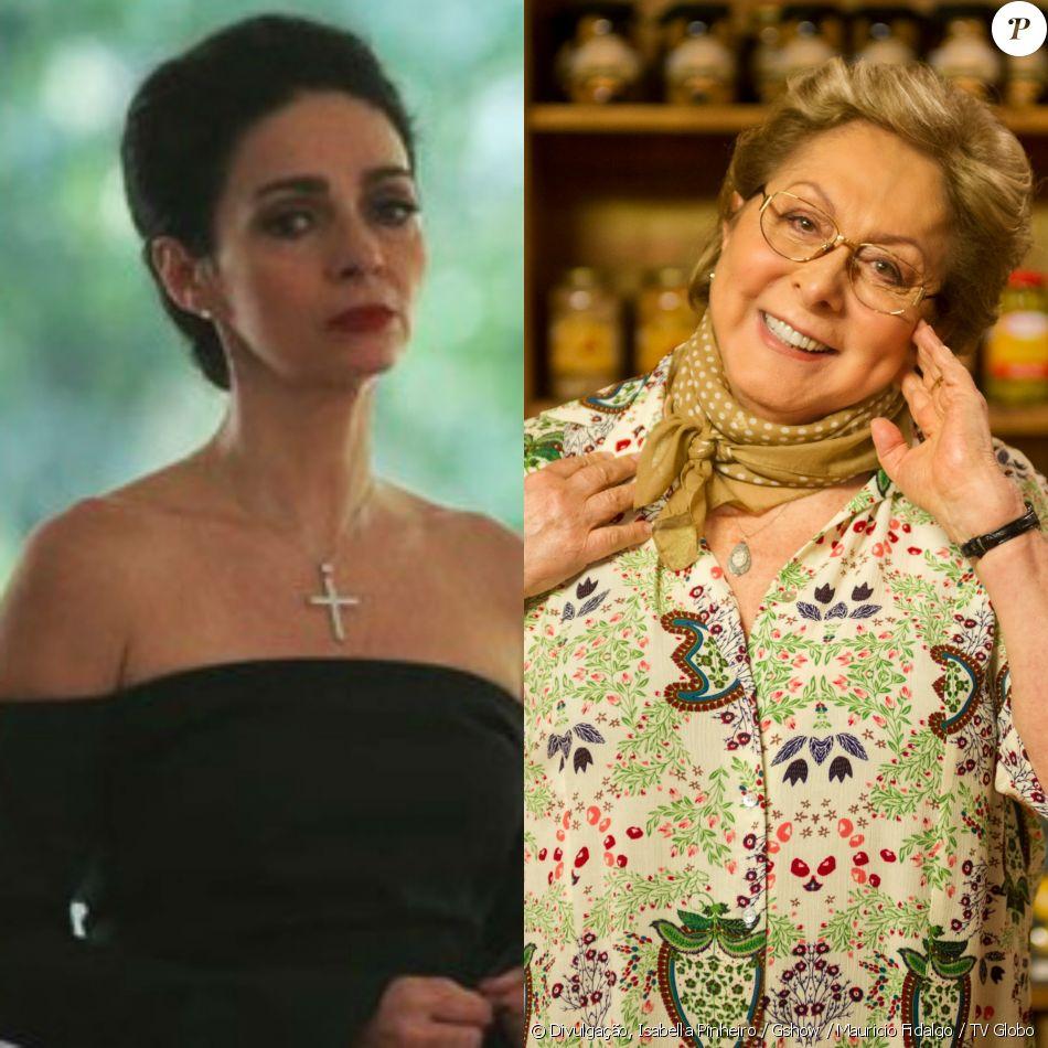 Loretta (Claudia Ohana), usando camisola sexy, tenta seduzir Vittorio (Marcello Novaes) no quarto do padeiro, mas é flagrada por Geppina (Aracy Balabanian), na novela 'Sol Nascente'