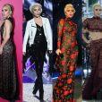 Lady Gaga exibiu quatro figurinos durante a noite dedicada à gravação do Victoria's Secret Fashion Show, nesta quarta-feira, 30 de novembro de 2016, em Paris