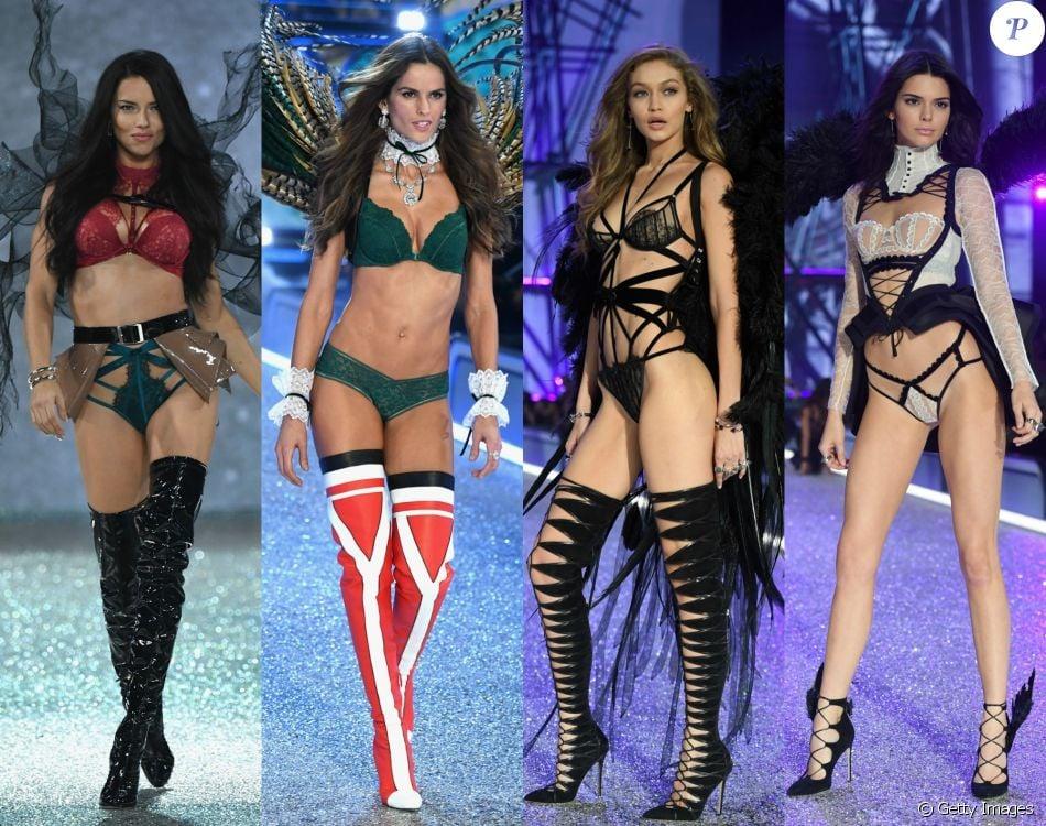 Adriana Lima, Izabel Goulart, Gigi Haddid e Kendall Jenner se destacam no Victoria's Secret Fashion Show nesta quarta-feira, dia 30 de novembro de 2016