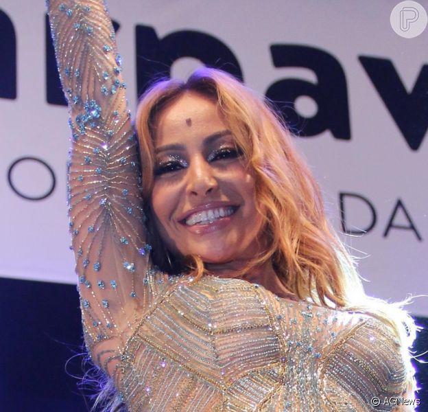 Sabrina Sato esteve no lançamento do CD das escolas de samba para o carnaval 2017, na Cidade do Samba, no Rio de Janeiro, nesta quinta-feira, 1º de dezembro de 2016