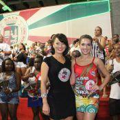 Monique Alfradique e Geovanna Tominaga caem no samba da Grande Rio