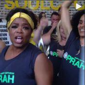 Oprah Winfrey comemora aniversário de 60 anos em aula de spinning na academia