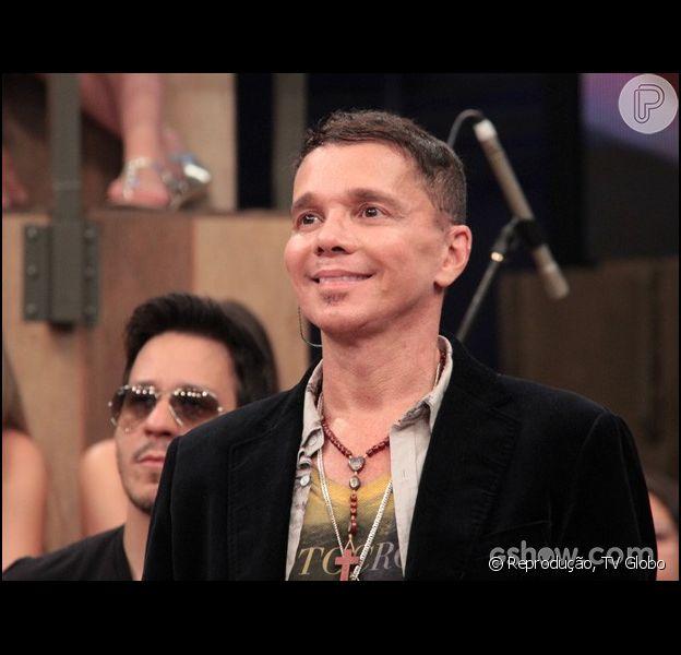 Netinho participa do programa 'Altas Horas', da TV Globo, em 8 de fevereiro de 2014