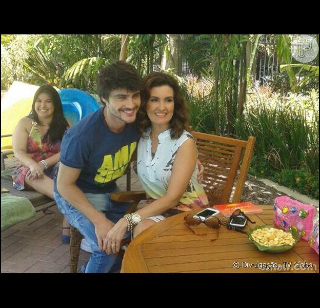 Guilherme Leicam falou sobre crises de ciúmes em entrevista ao programa 'Encontro', de Fátima Bernardes, nesta segunda-feira, 10 de fevereiro de 2014