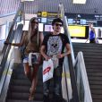 Guilherme Leicam embarca no aeroporto Santos Dumont, no Rio de Janeiro, em 11 de fevereiro de 2014