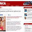 Rompimento de Neymar e Bruna Marquezine ganhou destaque na imprensa espanhola, como no site esportivo 'Diario Gol'