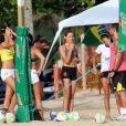 Sasha se prepara para treinar na seleção brasileira de vôlei de praia
