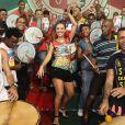 O desempenho da paulista no samba está sendo elogiado nos ensaios da Grande Rio