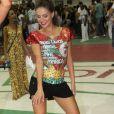 A atriz deve assumir o posto de rainha de bateria da Grande Rio em 2015