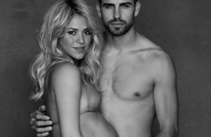 Shakira mostra barrigão de oito meses em foto com Gerard Piqué