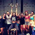 Giovanna Antonelli e Bruna Marquezine praticam CrossFit, na academia CFP9, na Barra da Tijuca, na Zona Oeste do Rio de Janeiro. O professor Marcos Viana contou detalhes sobre o treino das atrizes em 7 de março de 2014